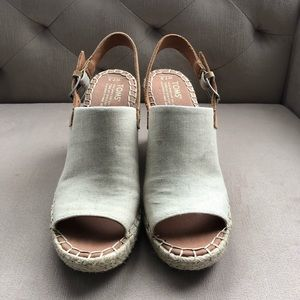 toms monica slingback wedges size 7.5
